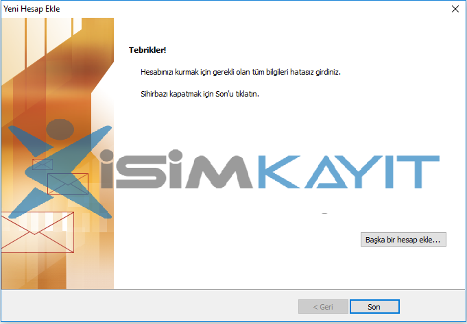 outlook kurulumu pop3 ayarı