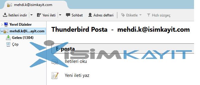 Thunderbird smtp kurulumu