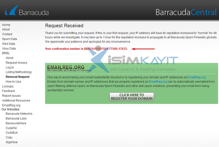barracuda blacklist