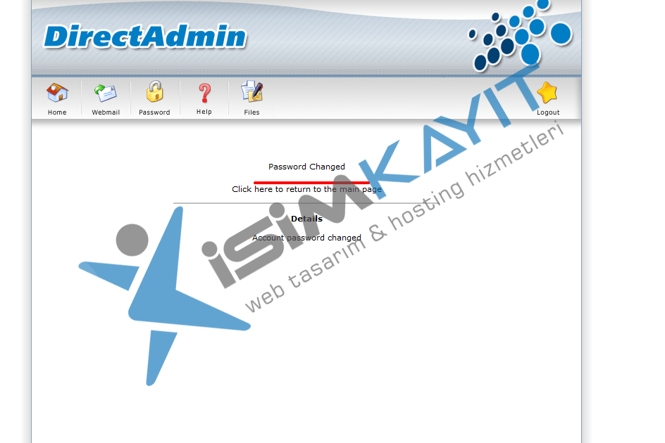 Bayi hosting kullanıcı şifre değiştirme