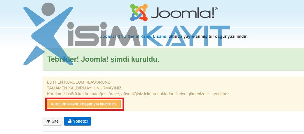 joomla e-ticaret yazılım admin girişi