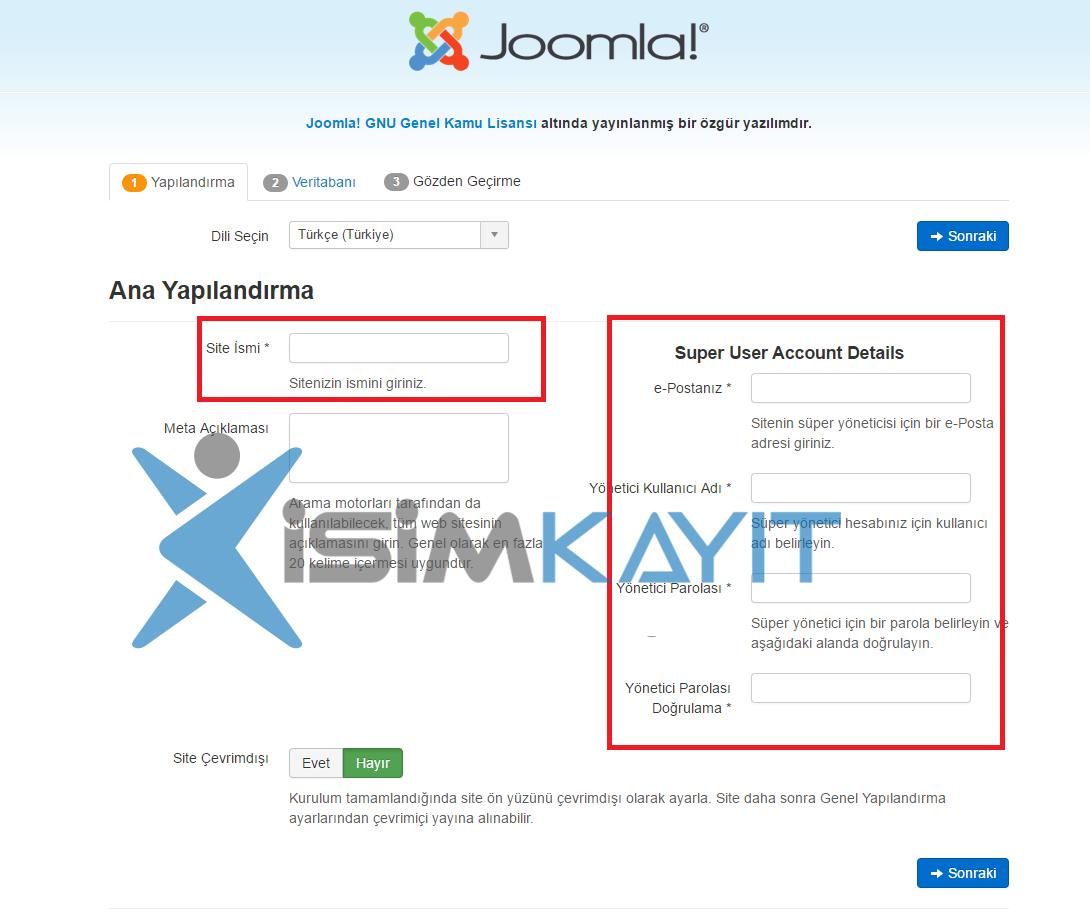 joomla e-ticaret yazılım kurulumu