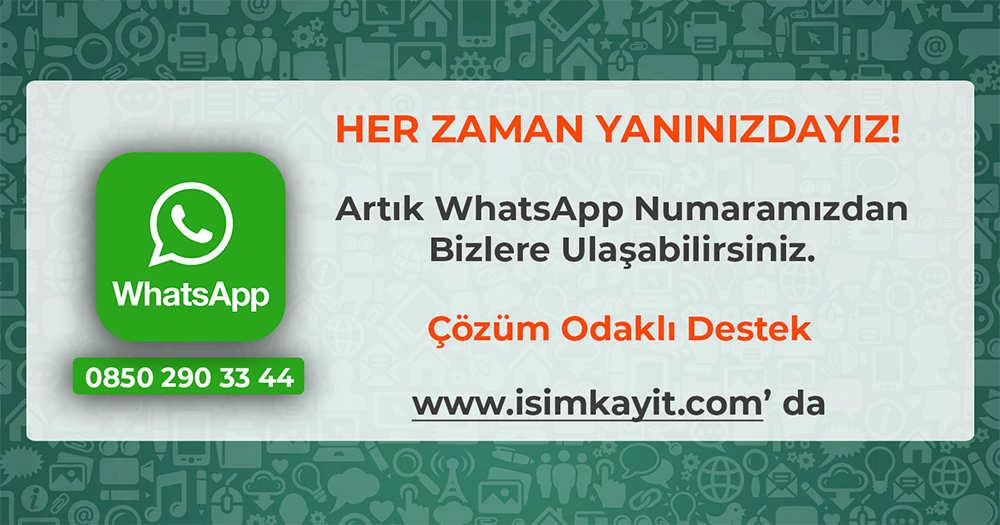 İsim Kayıt Whatsapp Destek Hattı